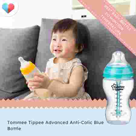 Tommee Tippee Advanced Anti-Colic Blue Bottle - Best baby bottle to monitor temperature