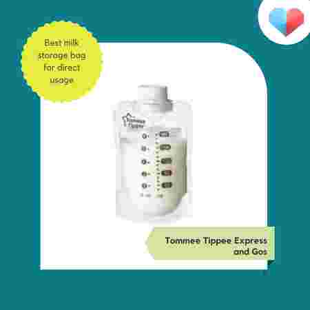 Tommee Tippee Express and Go - Best milk storage bag for direct usage
