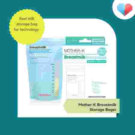 Mother-K Breastmilk Storage Bags - Best milk storage bag for technology with its temperature sensor function