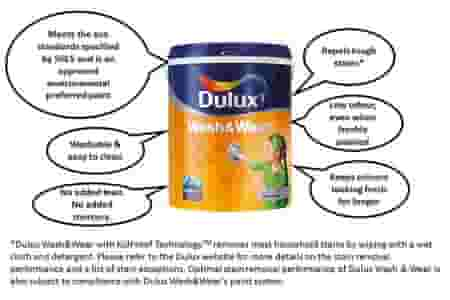 dulux wash and wear