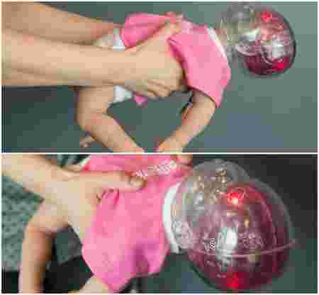 This doll shows the horrifying damage caused by shaking your baby