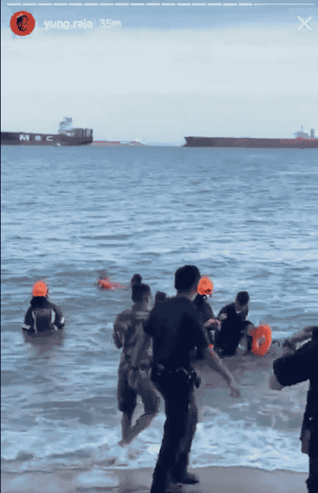 Grandfather And Boy Swept Out To Sea During High Tide At East Coast Park