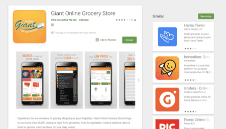 17 Online Grocery shopping apps and delivery services