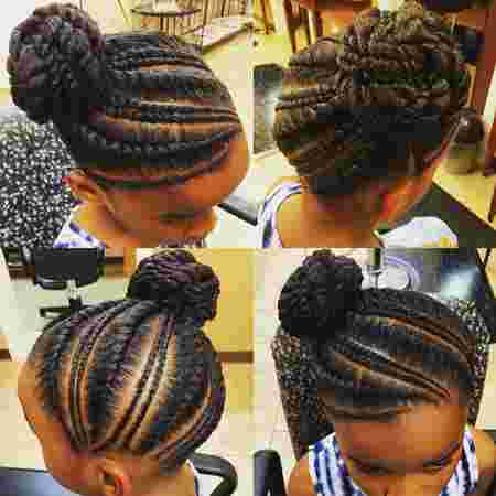 Twisted buns for girls
