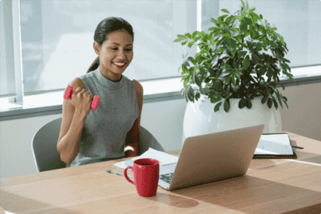 stay healthy at a desk job