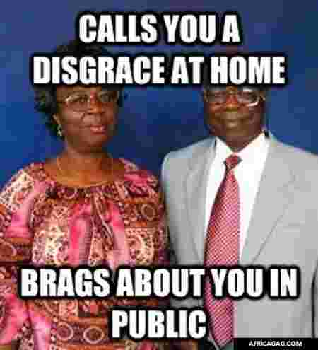 brags about you in public Nigerian parents memes
