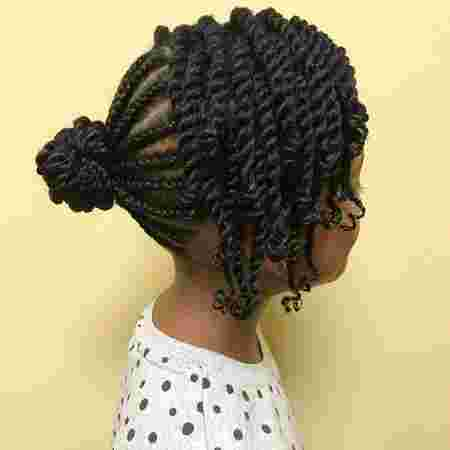 shuku twist Back to school hairstyles for African girls