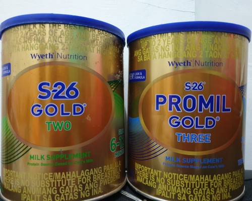 S26 Gold Two to S26 Promil Gold Three