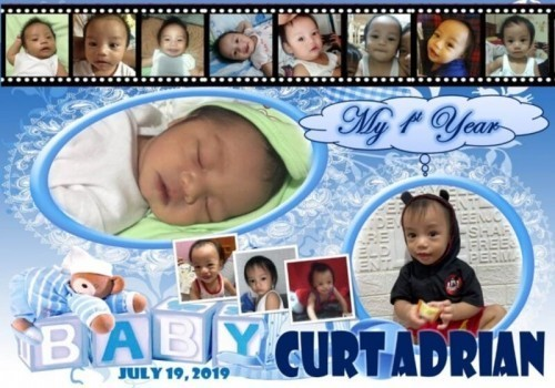 Customized babys 1st year pictures