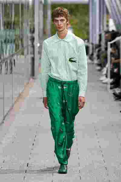 Look 24 by Alessandro Lucioni at the Lacoste Spring Summer 2020 Fashion Show