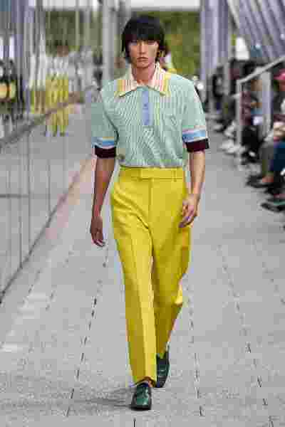 Look 26 by Alessandro Lucioni at the Lacoste Spring Summer 2020 Fashion Show
