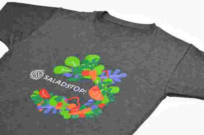 Saladstop! limited edition t-shirt (gray)