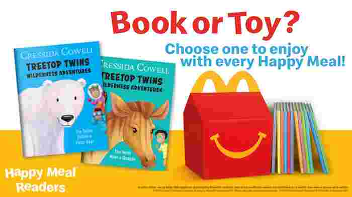 A book or a toy? McDonald's welcomes books as a new option to every Happy Meal!