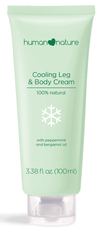 human nature cooling leg and body cream