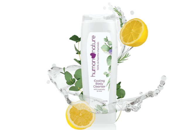 human nature cooling body cleanser