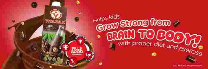 Vitamilk poster to grow strong tagline