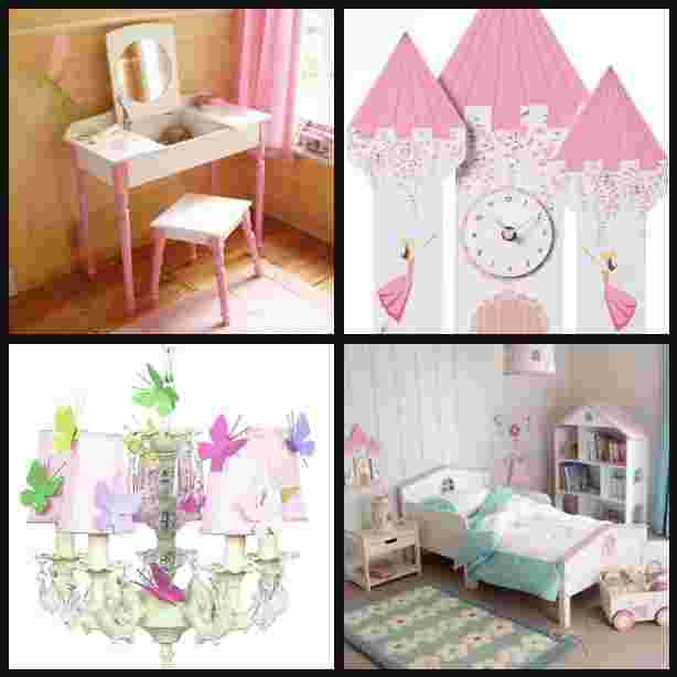 girls room collage