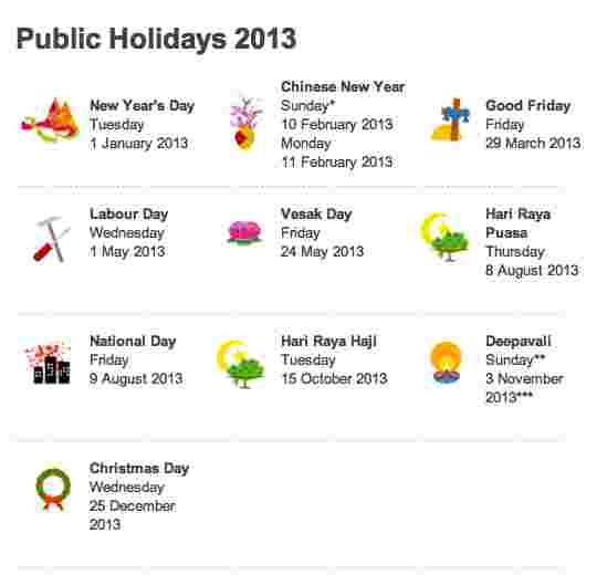 5 long weekends in 2013 - How to plan now!