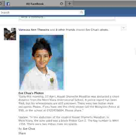 Child kidnapped close to school