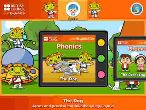 Learning English for kids -- there's an app for that, too