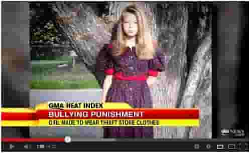 Young Kaylee's punishment for bullying a classmate -- Wearing thrift shop clothes