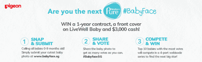 Join the search for the next Pigeon Newborn Pure Baby Ambassador and win $3k cash and other prizes!