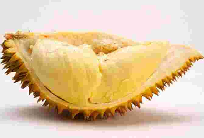Durian contains folic acid and is high in fibre.