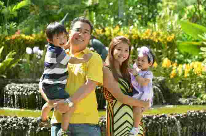 Kenny Cheow, family, happy, advice for new dads