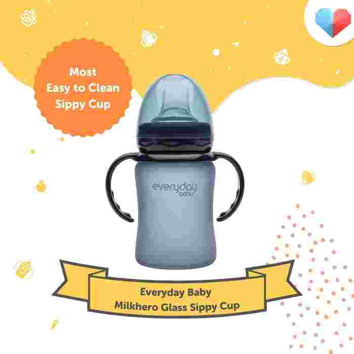 Everyday Baby Milkhero Glass Sippy Cup Review Most Easy to Clean Sippy Cup
