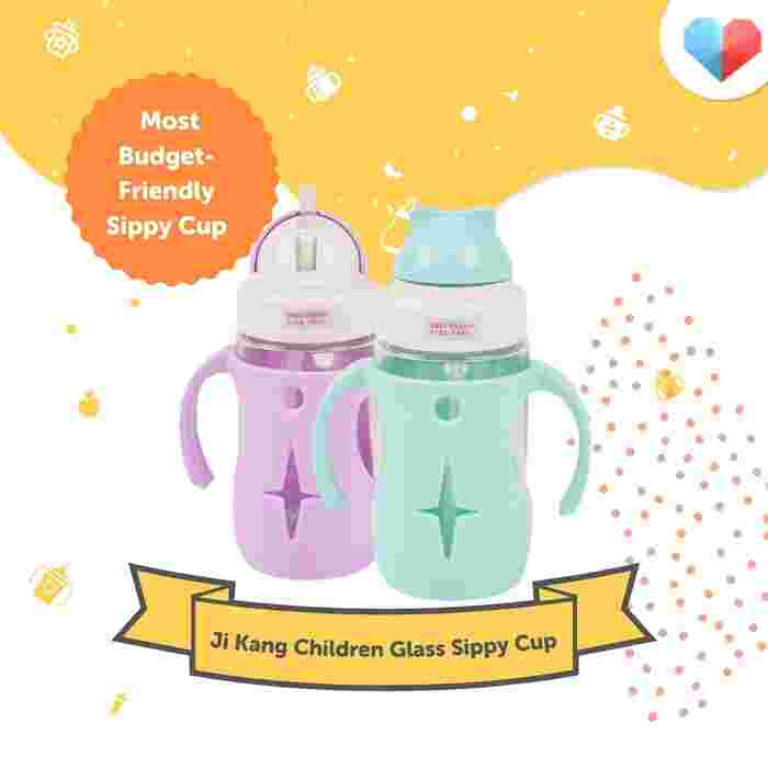 Ji Kang Children Glass Sippy Cup  Most Budget-Friendly Sippy Cup