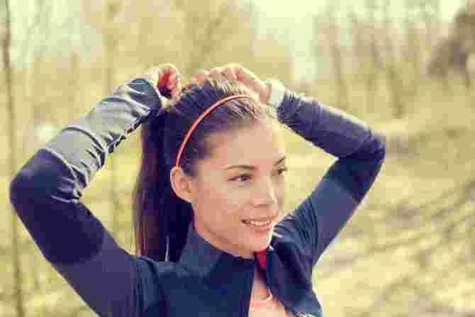 Long hair pulled back in a high ponytail makes you look and feel young, also keeping hair out of your face and your kids' reach.