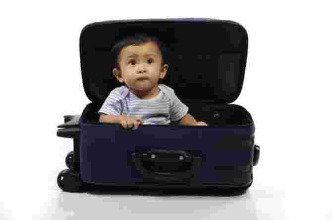 space, baby, toddler, suitcase, boy, child, holiday, vacation