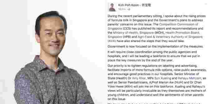 Six-member Government taskforce to curb rising formula milk prices in Singapore!