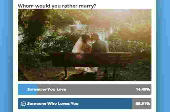 'The One You Love or the One Who Loves You': Whom Do You Choose?
