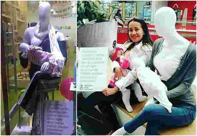 These breastfeeding mannequins are breaking stigmas about nursing mums