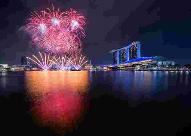 National Day Fireworks In Singapore 2018