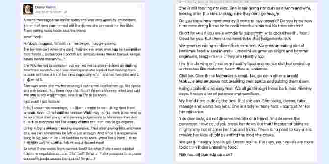 Mums, this Singapore mum's post on mum-shaming is what you need to read today!