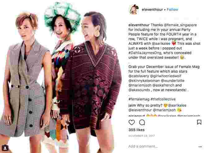 fashionable mums in Singapore