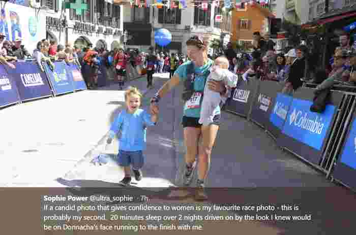 Mum breastfeeds and pumps while taking part in grueling marathon