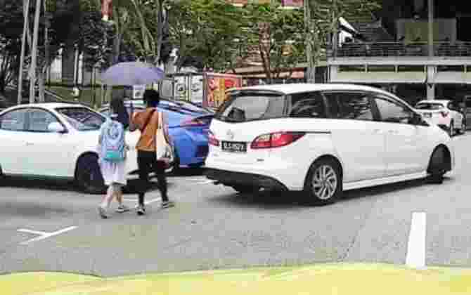 Woman and Child Hit By Reversing Car At Carpark, Sends Important Reminder to Stay Alert
