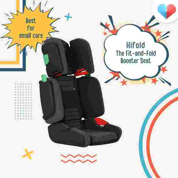 Hifold the Fit-and-Fold Booster Seat: Best for small cars
