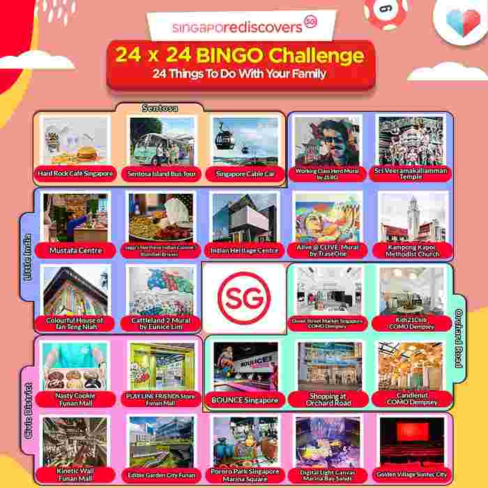 24 X 24 BINGO Challenge, Accepted! Relive, Revisit, Rediscover Singapore