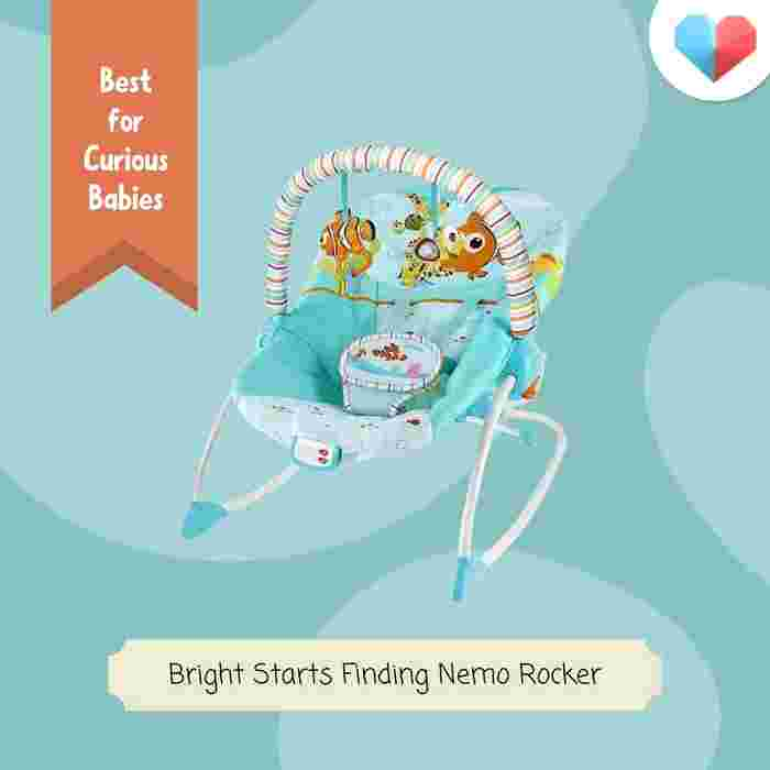 Bright Starts Finding Nemo Rocker: Best Baby Rocker for Curious Babies - Stimulating Toys and Colours
