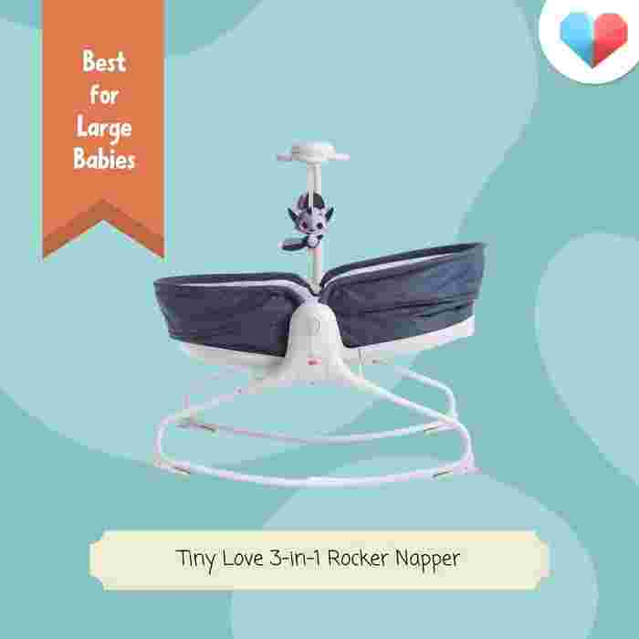 Tiny Love 3-in-1 Rocker Napper: Best for Large Babies - most heavy duty, spacious and sturdy
