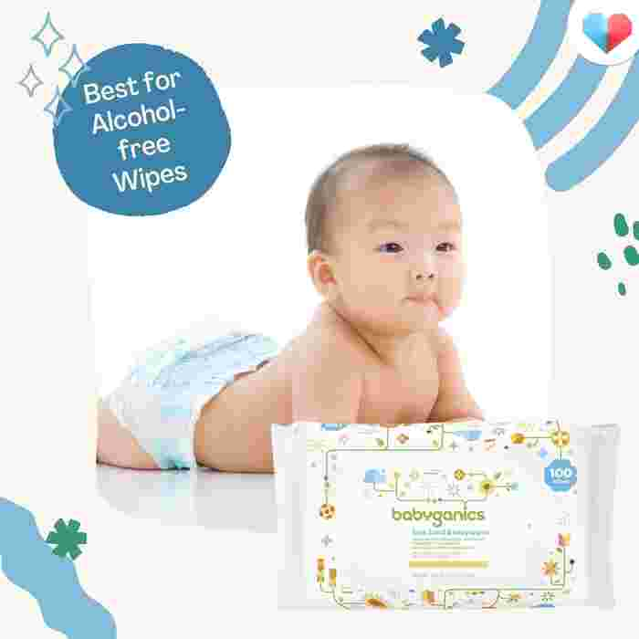 Babyganics Face and Hand Baby Wipes- Best Alcohol-free Wipes