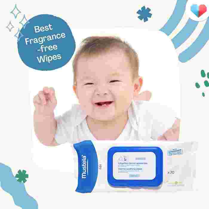 Mustela Fragrance-Free Cleansing Wipes- Best Fragrance-free Wipes