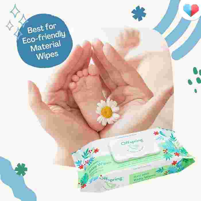 Offspring Plant-Based Baby Wipes- Best for eco-friendly material wipesOffspring Plant-Based Baby Wipes- Best for eco-friendly material wipes