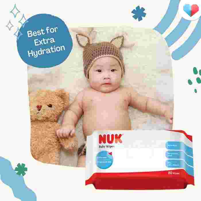 NUK Fragrance-Free Baby Wipes- Best for Extra Hydration