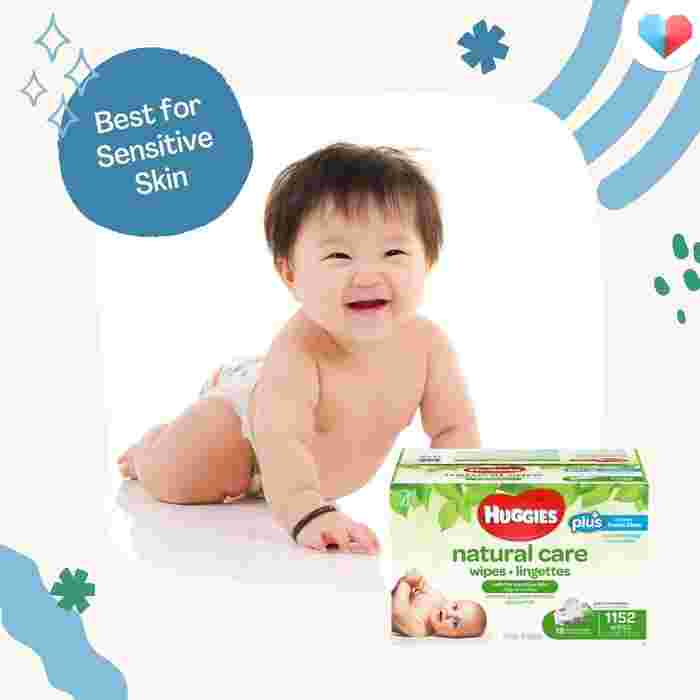 Huggies Natural Care Baby Wipes- Best for Sensitive Skin