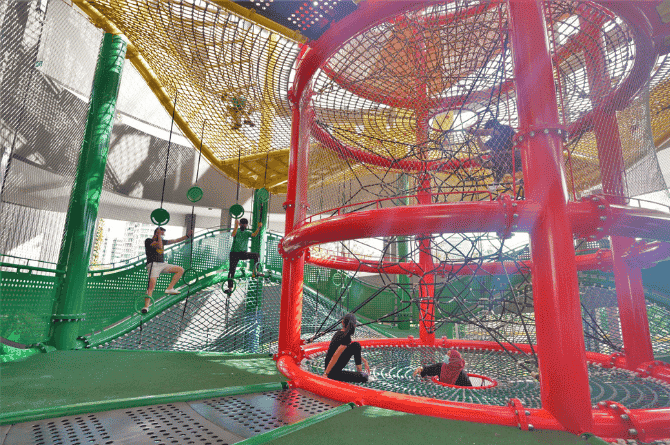 Singapore's Tallest Outdoor Play Feature At The Former Big Splash In East Coast Park Is Now Open!
